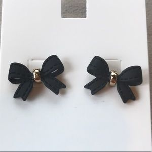 Black Bow Earrings by H&M